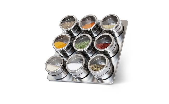 Supreme Mall Magnetic Stainless Steel Finish Spice Rack Masala Box 1560418155533