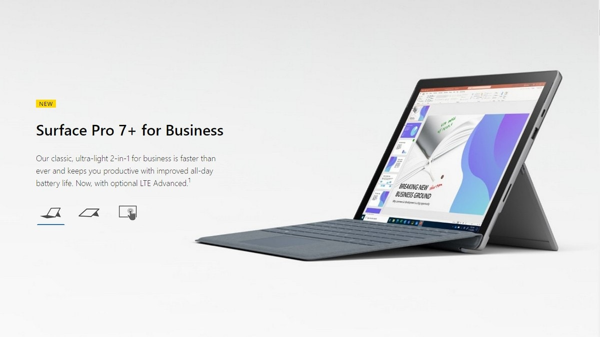 Microsoft Surface Pro 7+ launch equipped with these features