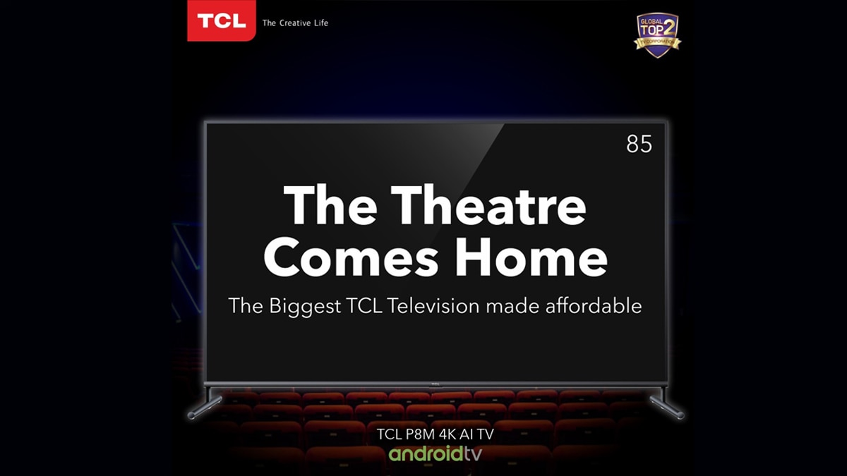 TCL 85P8M 85-inch 4K Android TV Launched in India at Rs. 1,99,999