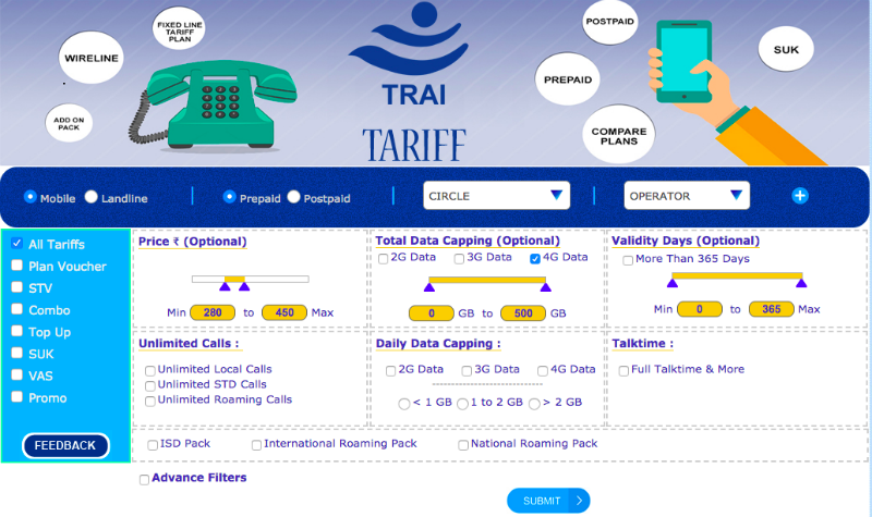 TRAI's New Website Will Let You Compare Jio, Airtel, Vodafone, and Other Recharges