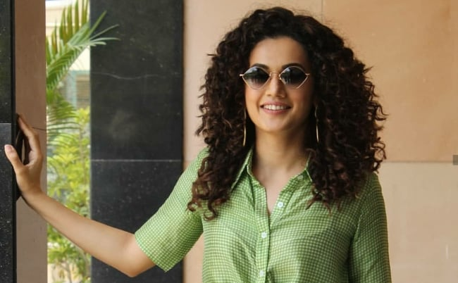 Taapsee Pannu Game Over Promotions Sunglasses 1559643835135
