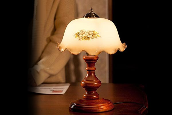Starry Night LED Bedside Table Lamp Retro Style