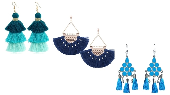 Tara Sutaria Casual Style Tassle Earrings 1557487897983