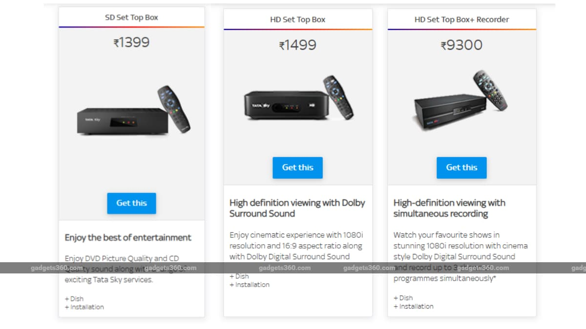 Tata Sky HD, SD Set-Top Box Price in India Increased by Up to Rs. 300
