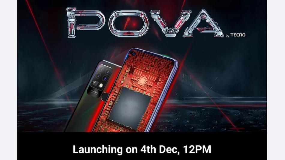 Tecno Pova With MediaTek Helio G80 SoC to Launch in India on December 4