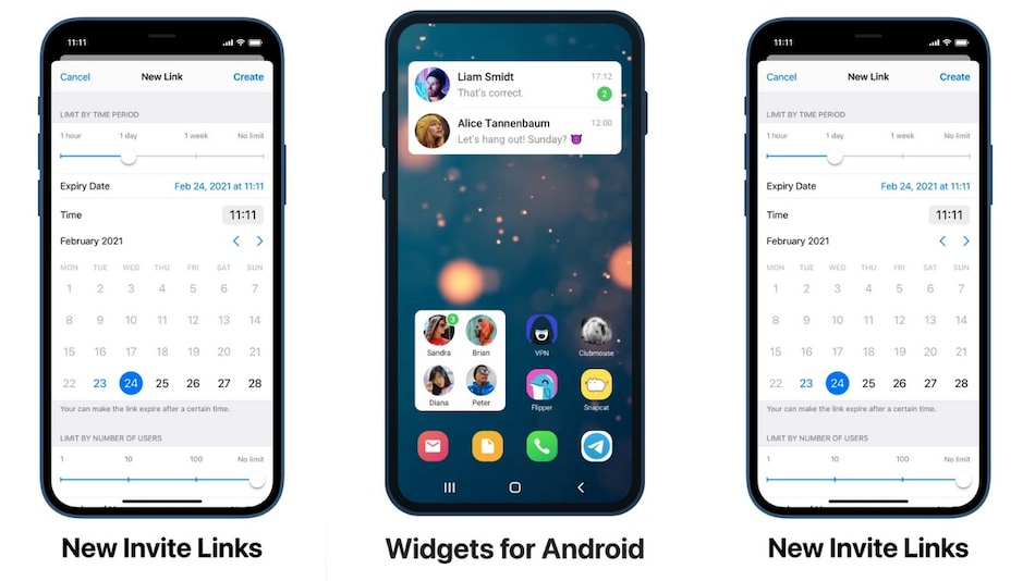 Telegram Update Brings Auto-Delete Feature, Home Screen Widgets, Expiring Invite Links, and More