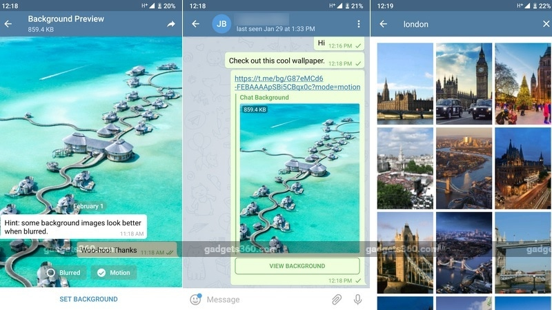 Telegram v5.3 Brings Ability to Share Backgrounds via Links, Introduces Blur and Motion Effects