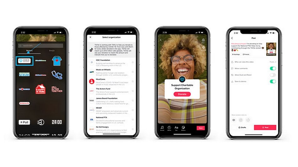 TikTok Launches Donation Stickers to Allow Creators to Raise Funds for Coronavirus Relief