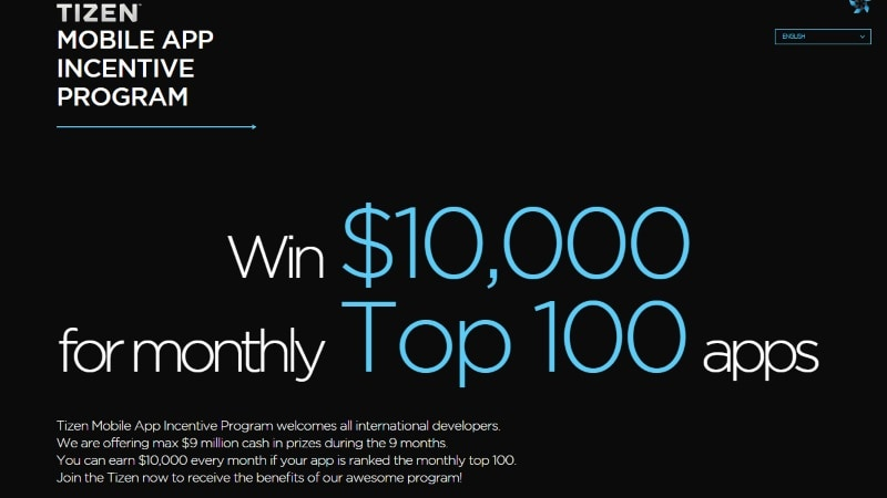 Samsung Launches Tizen Mobile App Incentive Programme With $10,000 Cash Prizes Each Month