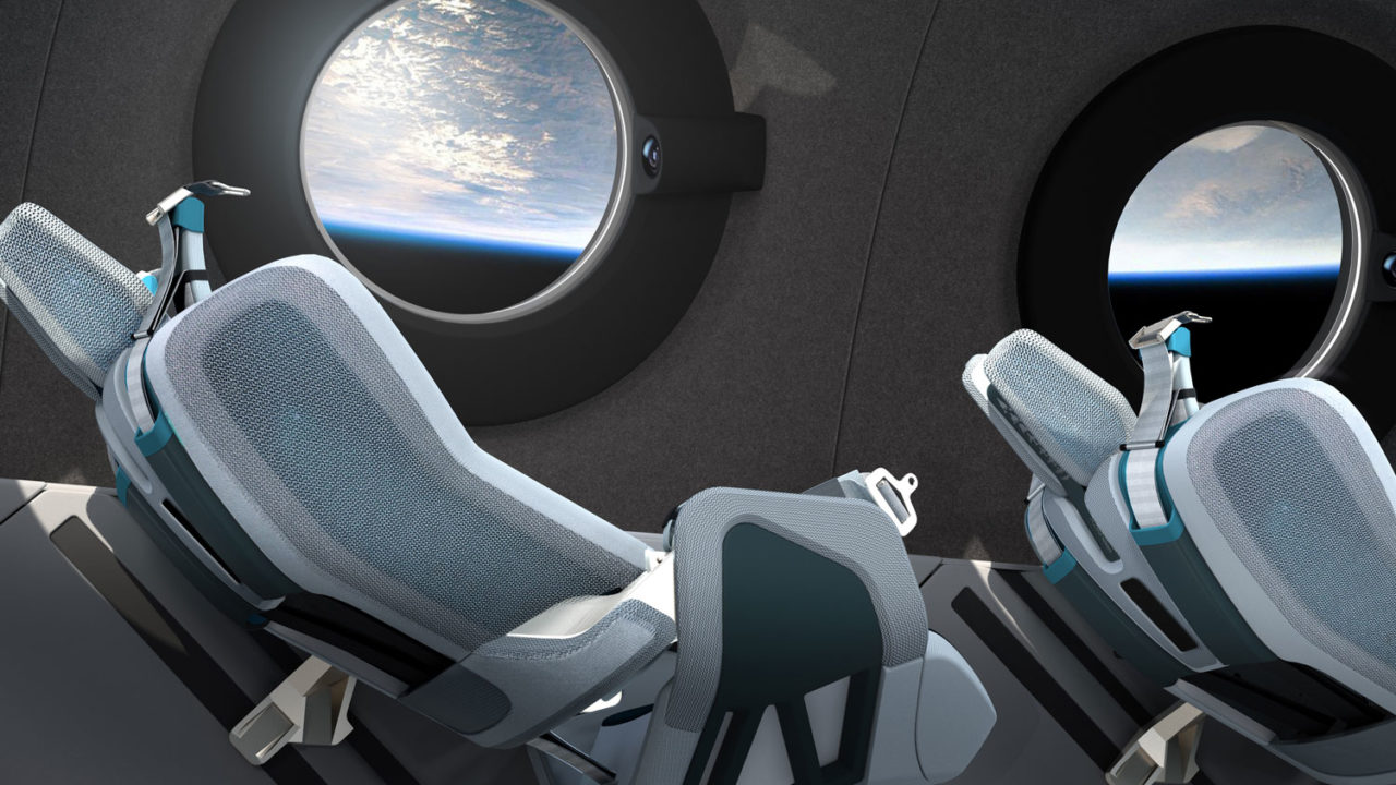 Virgin Galactic Spaceship Seats In Space Virgin Galactic