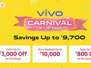 Vivo Carnival Sale Kicks Off on Amazon; Discounts and No-Cost EMI Offers on Vivo U20, Vivo V10 and More