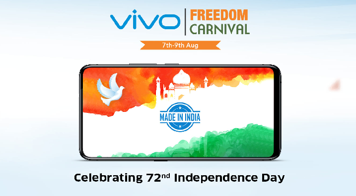 Vivo Freedom Carnival Sale, Offers - Vivo Nex for Rs.1947 Only