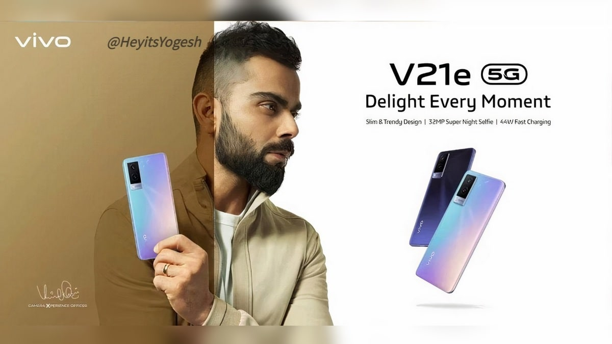 Vivo V21e 5G Specifications Tipped via Leaked Poster Ahead of Launch