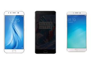 Vivo V5 Plus vs OnePlus 3T vs Oppo F1 Plus: Battle of the Mid-Range Selfie Phones