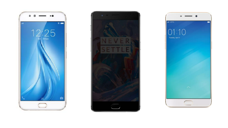 Vivo V5 Plus vs OnePlus 3T vs Oppo F1 Plus: Battle of the Mid-Range Selfie Phones