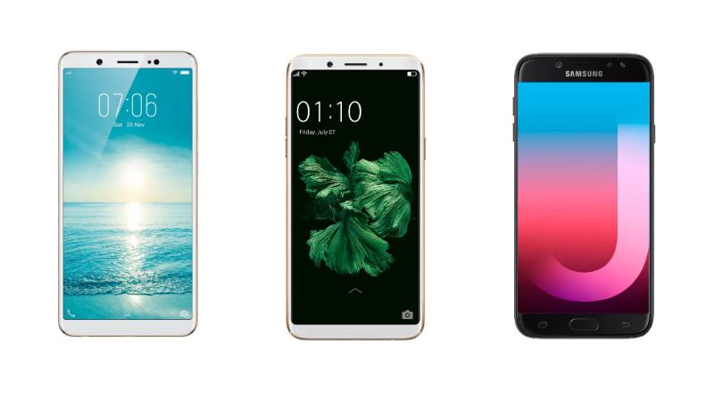 Vivo V7 vs Oppo F5 vs Samsung Galaxy J7 Pro: Price in India, Specifications, Features