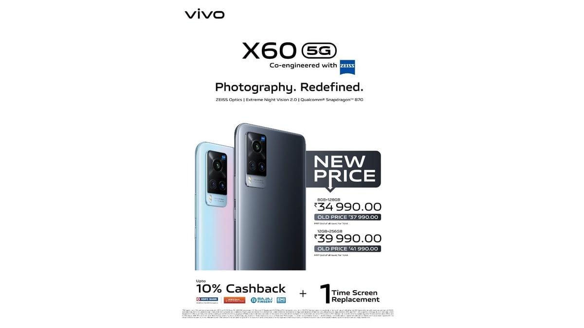 48MP कैमरा, 4200mAh बैटरी वाला Vivo X60 फोन Rs 3 हजार हुआ सस्ता, 5 हजार का कैशबैक भी