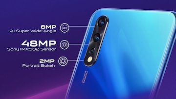Vivo Z1x bears a triple rear camera setup