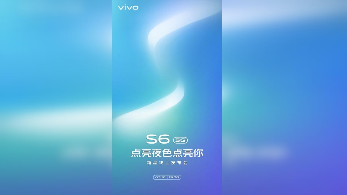 Vivo S6 5G Launch Date Set for March 31, Company Confirms