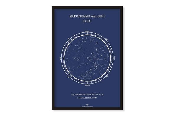 WOWOOD Custom Star Map Personalised Star Map 2 1611682357937