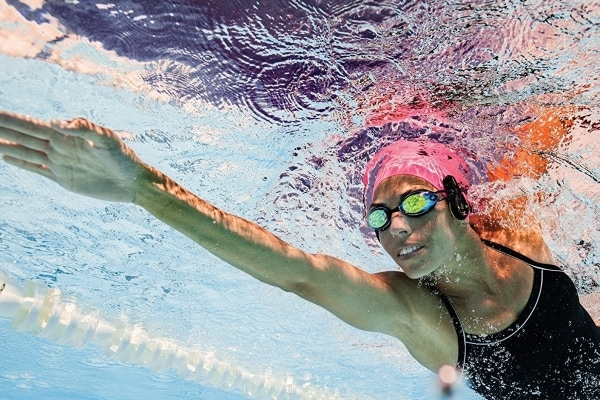 Waterproof Headphones With Music Players For Swimmers, Athletes, Joggers!