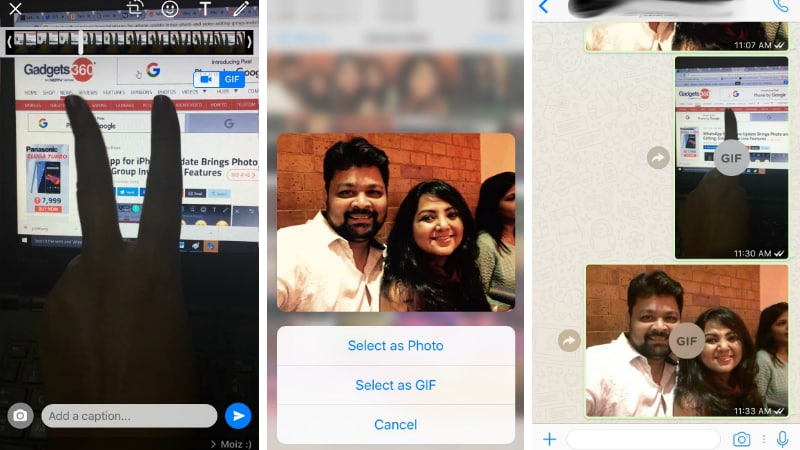 WhatsApp for iPhone Gets Full-Fledged Animated GIF Image Sharing Support