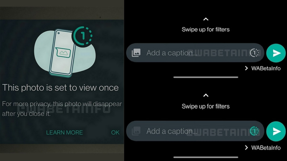 WhatsApp Testing 'View Once' Feature for Images, Videos That Disappear After Seen