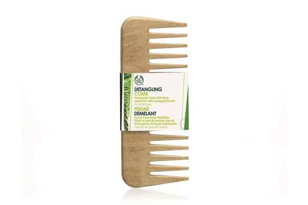 Wide tooth wooden comb 2
