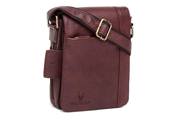 WildHorn Genuine Leather Sling Messenger Bag 1613154975222