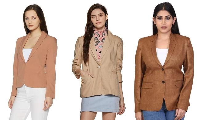 Women Workwear Inspiration From Karisma Kapoor Brown Blazer 1556091131456