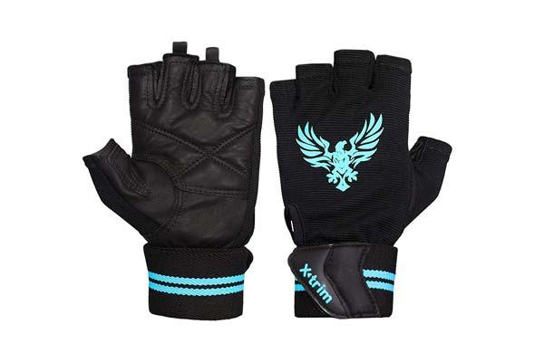XTRIM X Macho Men Leather Gym Workout Gloves 1559109221946