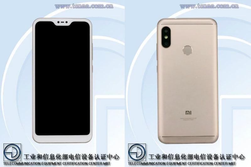 Xiaomi Mi A2 Lite के बारे में मिली जानकारी, नॉच डिस्प्ले व डुअल कैमरा सेटअप होने के पता चला