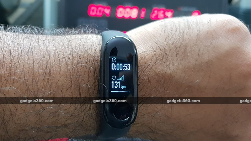 Xiaomi Mi Band 3 Excercise mode Xiaomi Mi Band 3 Review