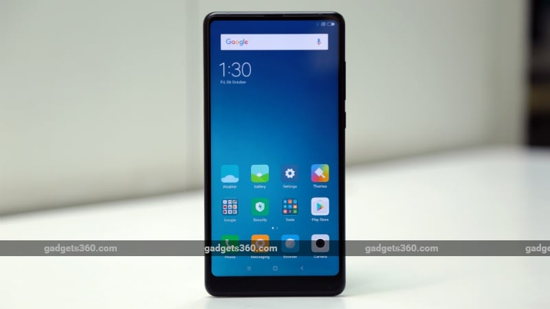 Xiaomi Mi MIX 2 front panel Xiaomi Mi MIX 2 price in India Rs. 35999