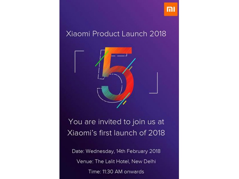 Xiaomi Redmi Note 5 India Launch Likely on February 14