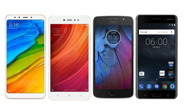 Redmi 5 vs Redmi Y1 vs Moto G5S vs Nokia 5: Price in India, Specifications Compared