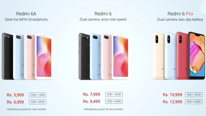 Xiaomi Redmi 6 Price in India Xiaomi Redmi 6 price in India