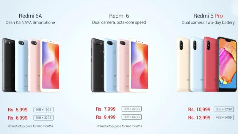 Xiaomi Redmi 6 Price in India Xiaomi Redmi 6 price in India