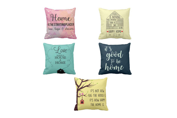 YaYa cafe Canvas Cotton Printed Love Goodness Happy Home Cushions Covers 1558079751729