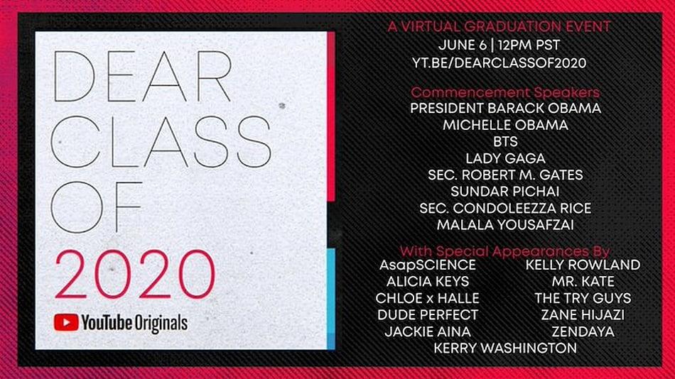 'Dear Class of 2020' Is YouTube's Virtual Graduation Ceremony Amid Coronavirus Lockdown