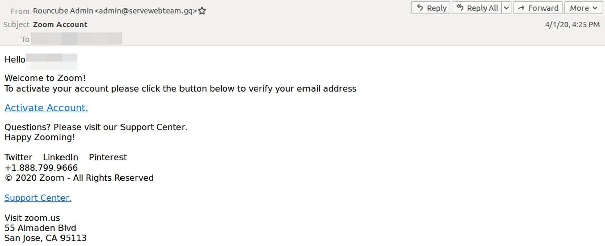 Zoom phishing email threat inline1 zoom