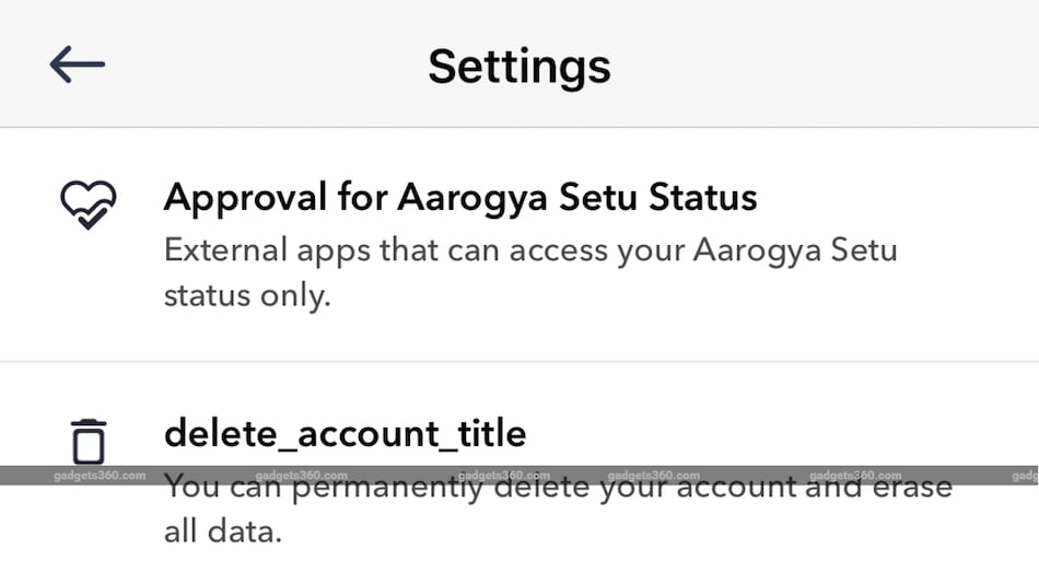 Aarogya Setu App Now Lets You Delete Your Account, Allow External Apps to Access Your Health Status