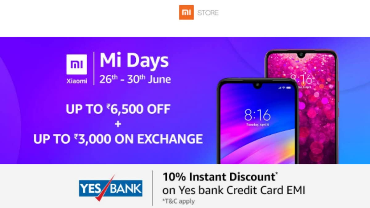 Amazon Mi Days Sale, Mi Super Sale Back With Offers on Mi A2, Poco F1, Other Phones