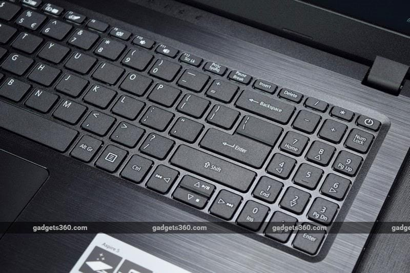 acer aspire 5slim keyboardright ndtv