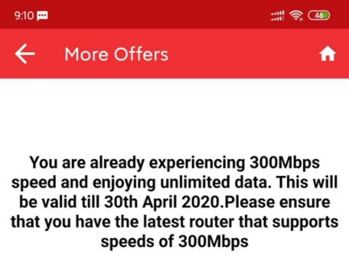ACT Fibernet यूज़र्स को अब 30 अप्रैल तक मिलेगी 300Mbps स्पीड, असीमित डेटा भी