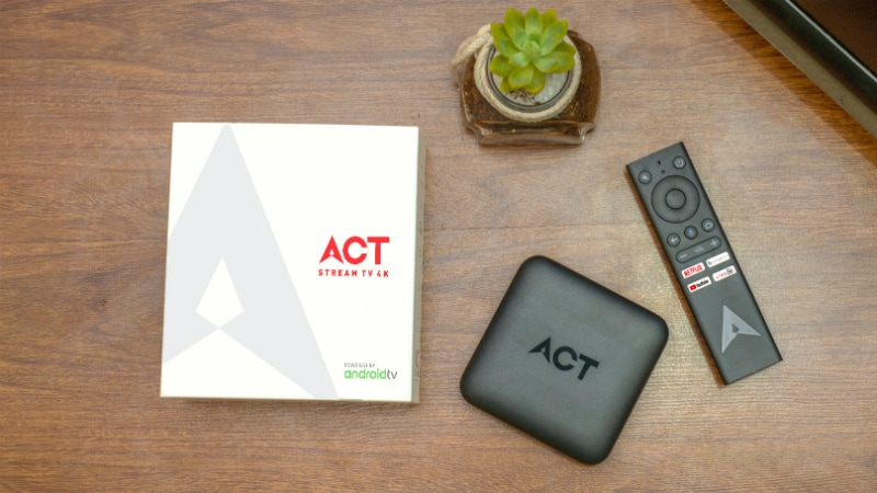 ACT Stream TV 4K 'OTT TV Streaming Box' Launched in India to Counter Amazon Fire TV Stick, Google Chromecast