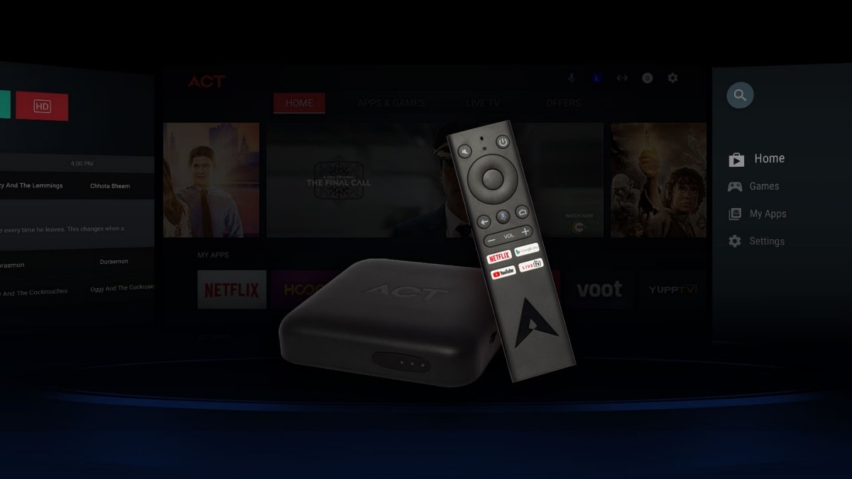 ACT Stream TV 4K Media Streaming Box With Android TV Now Available to Subscribers in 4 Cities
