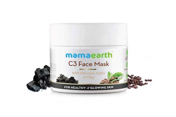 Activated Charcoal Face Mask in India 2019 - Mamaearth Charcoal, Coffee And Clay Face Mask, 100ml