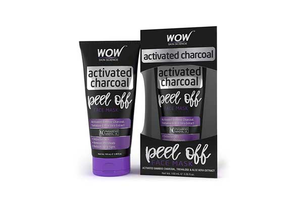 Activated Charcoal Face Masks in India 2019 - WOW Peel Off Charcoal Mask