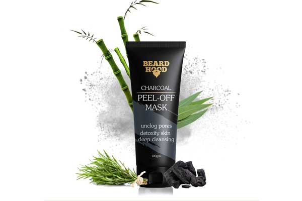 Activated Charcoal Face Mask in India 2019 - Beardhood Charcoal Peel-Off Mask, 100g